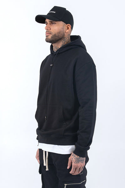 Oversized Basic Hoodie Black - PEGADOR - Dominate the Hype