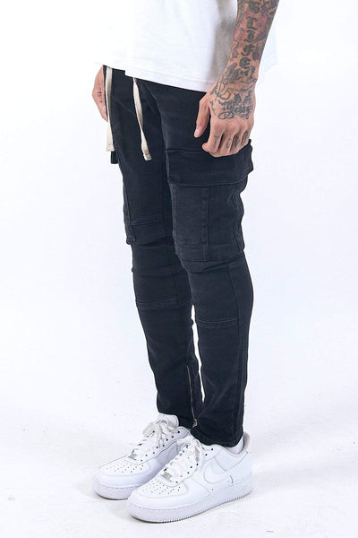 Usno Cargo Jeans Washed Black - PEGADOR - Dominate the Hype