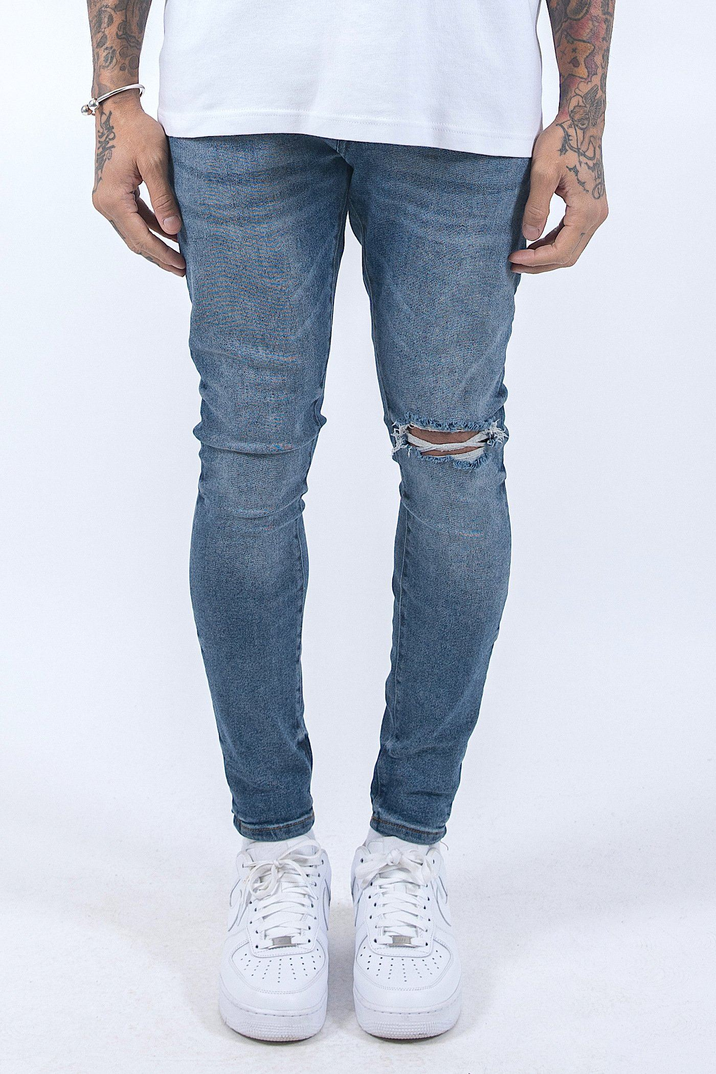Ferri Destroyed Jeans Vintage Indigo - PEGADOR - Dominate the Hype