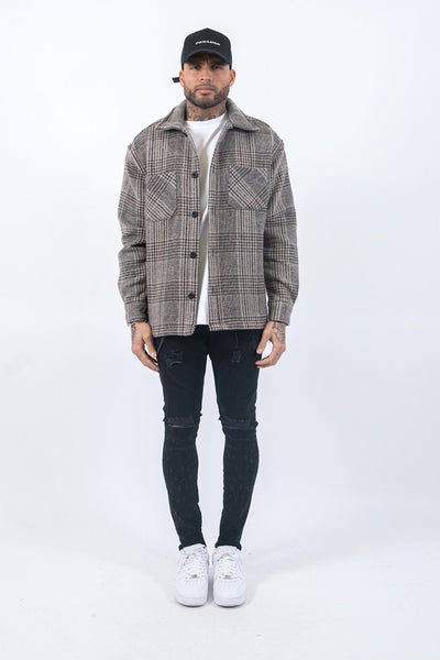 Funo Heavy Flannel Jacket Creme - PEGADOR - Dominate the Hype