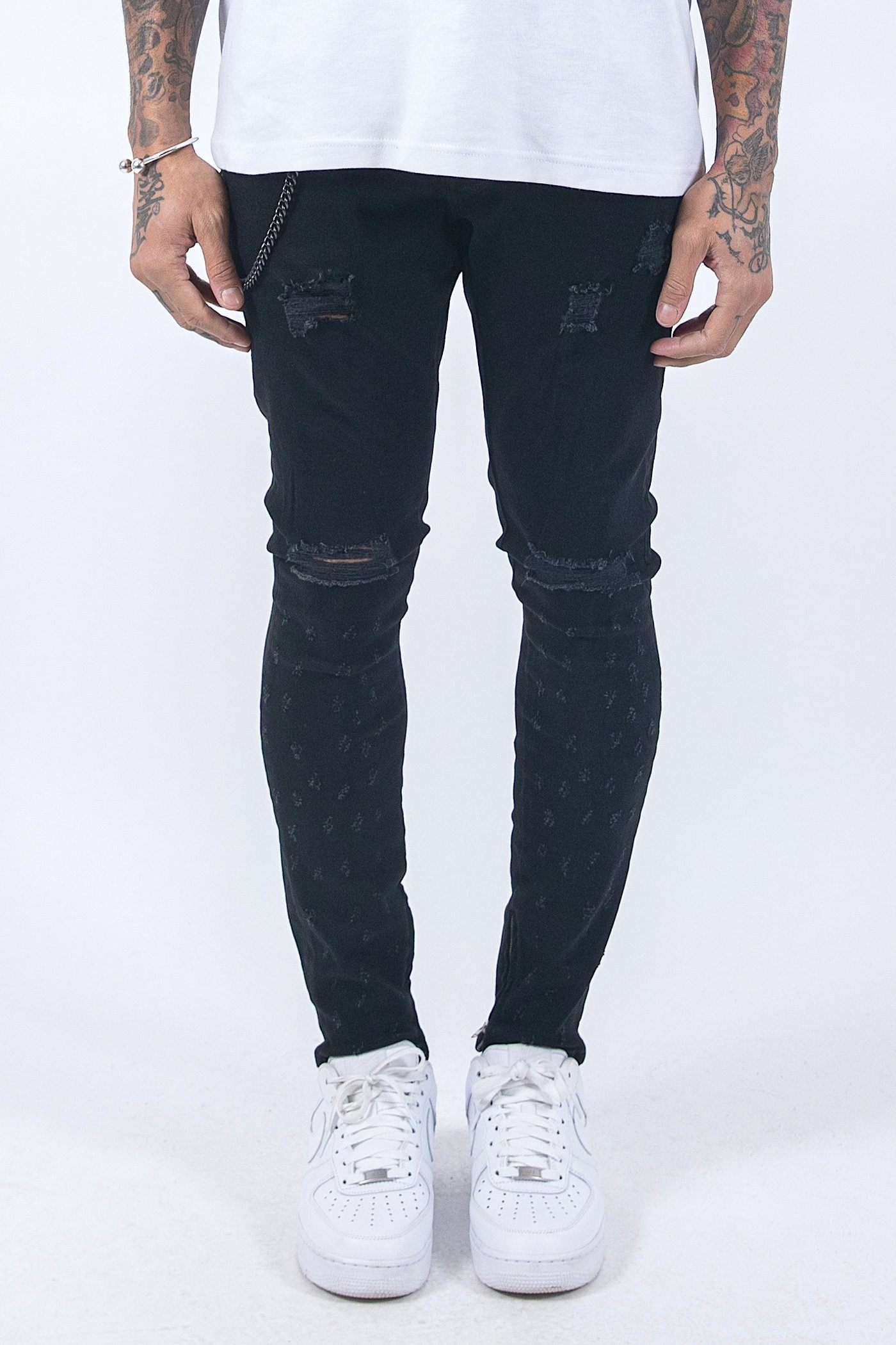 Chayne Destroyed Jeans Black Jeans PEGADOR