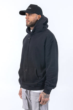 PEGADOR - Oversized Basic Hoodie Washed Black - $59.95