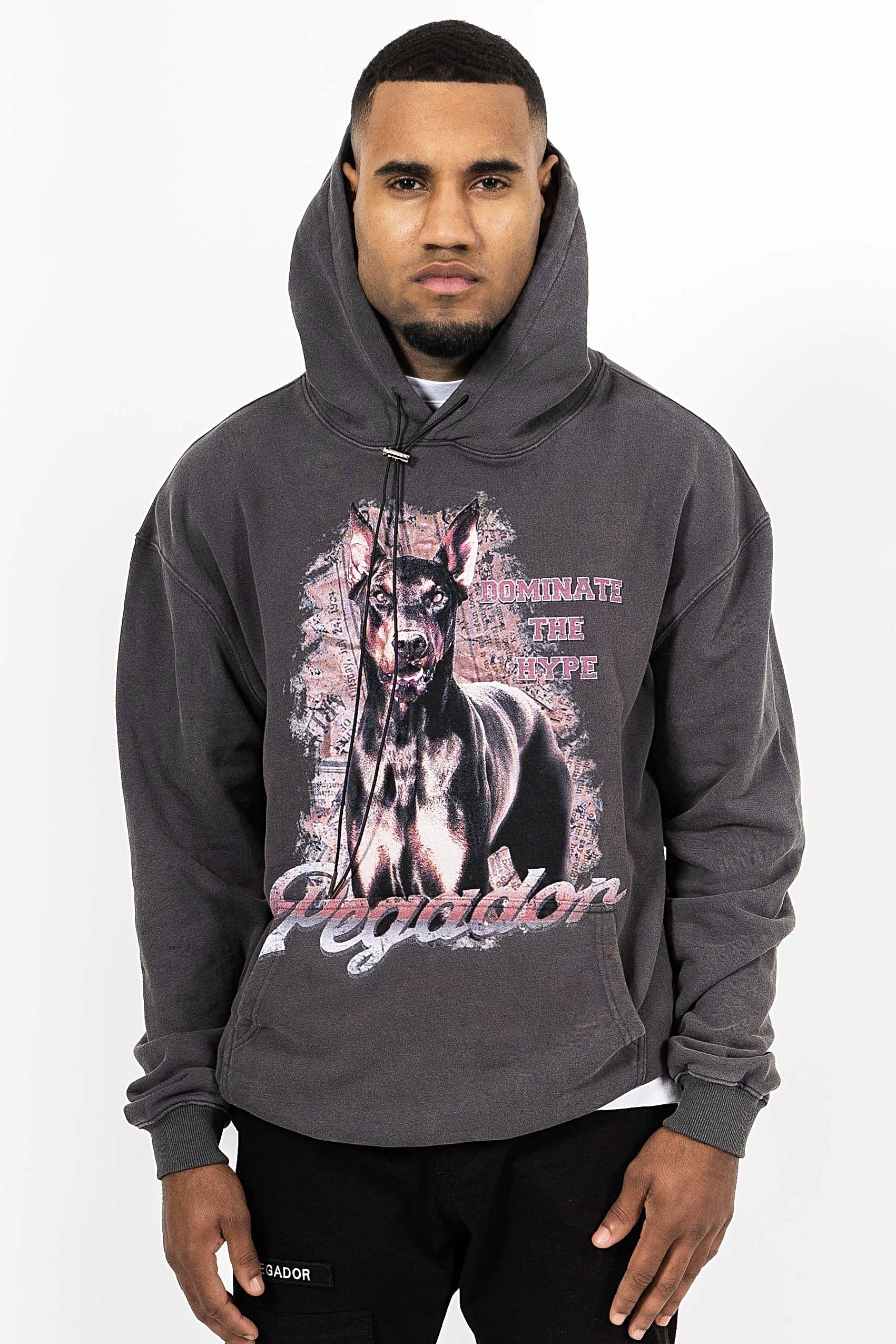 Denver Oversized Hoodie washed Grey - PEGADOR - Dominate the Hype