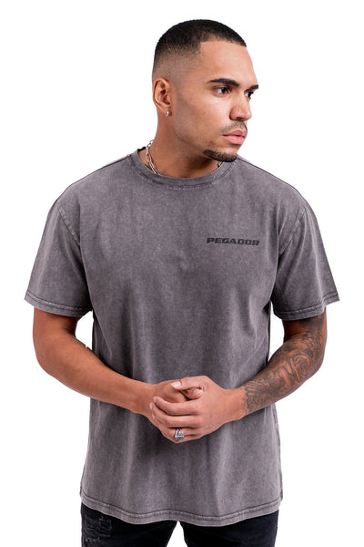 Pasto Circle Tee Washed Black - PEGADOR - Dominate the Hype