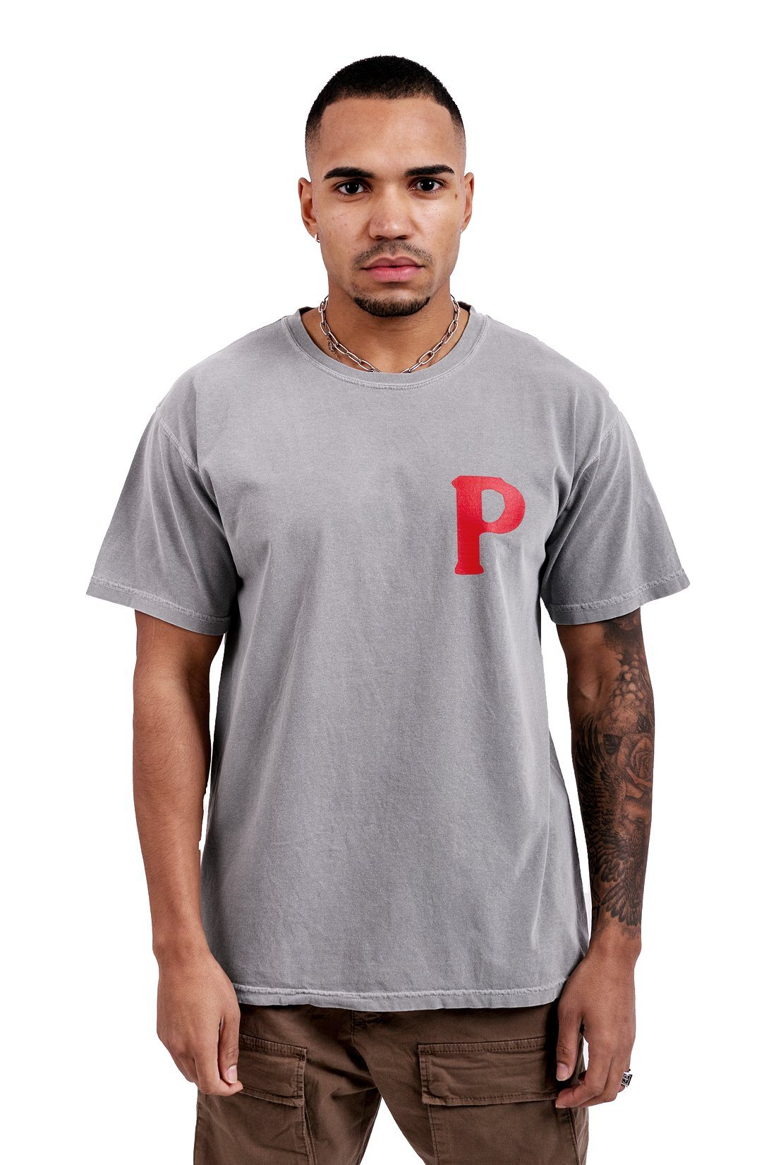 Asti Crew Oversized Tee Washed Grey T-SHIRT PEGADOR
