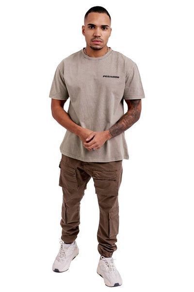 Pasto Circle Tee Washed Sand - PEGADOR - Dominate the Hype