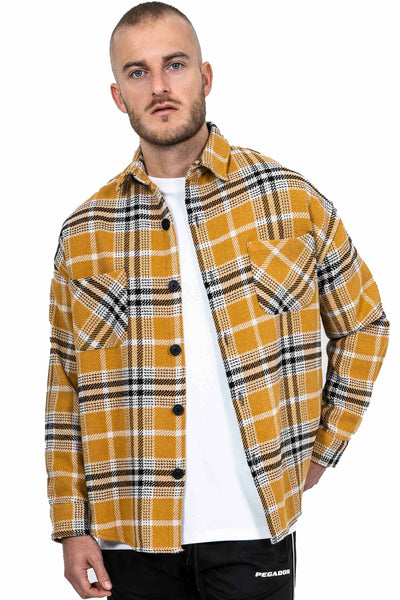 Sydney Round Heavy Flannel Shirt Lemon - PEGADOR - Dominate the Hype