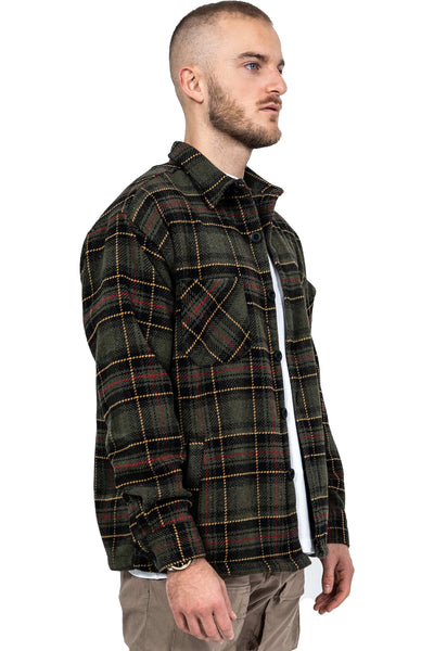 Flato Heavy Flannel Shirt Forest Green - PEGADOR - Dominate the Hype
