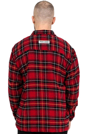 PEGADOR - Flato Heavy Flannel Shirt Lava Red - $69.95