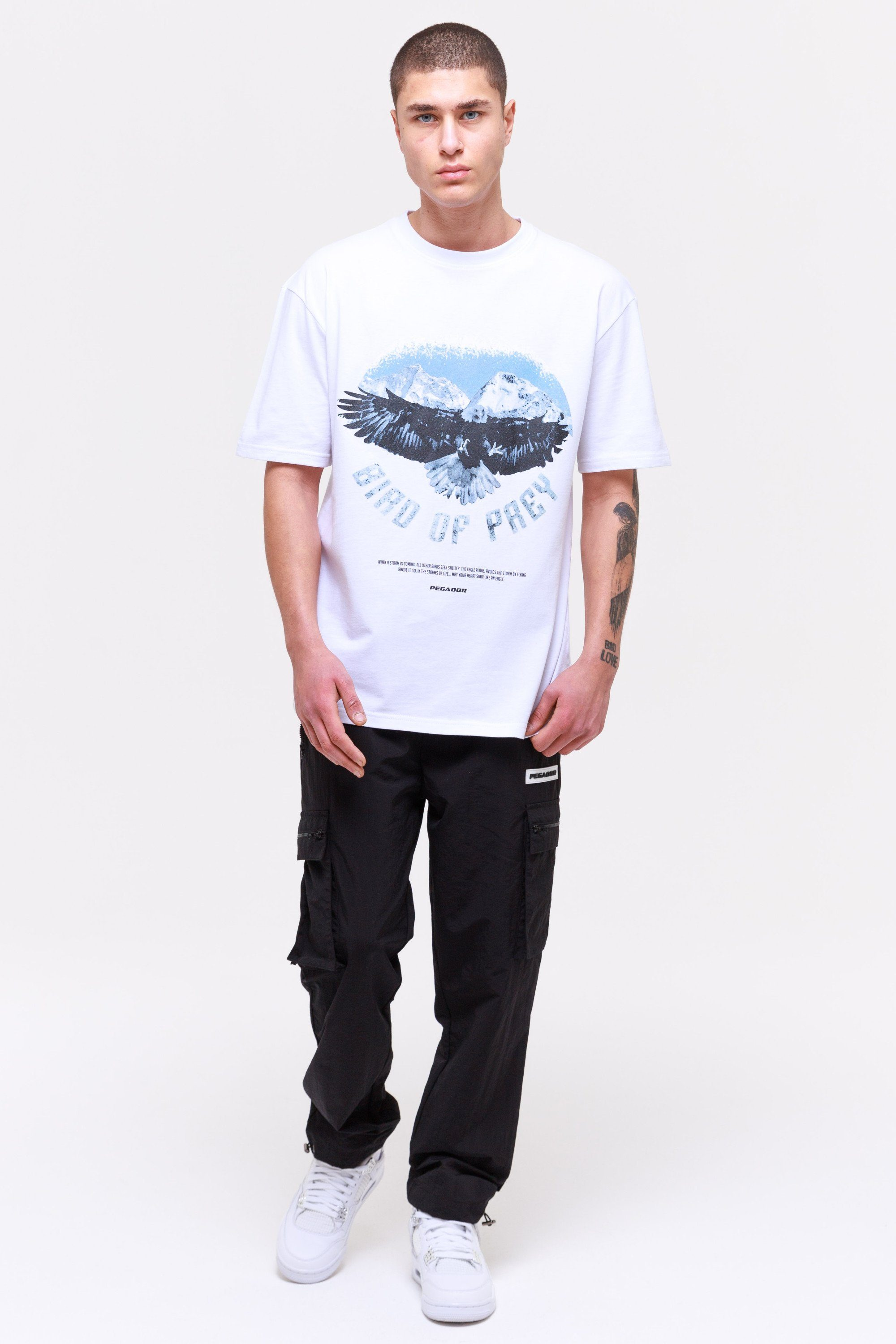 Eagle Oversized Tee White T-SHIRT Wild Society