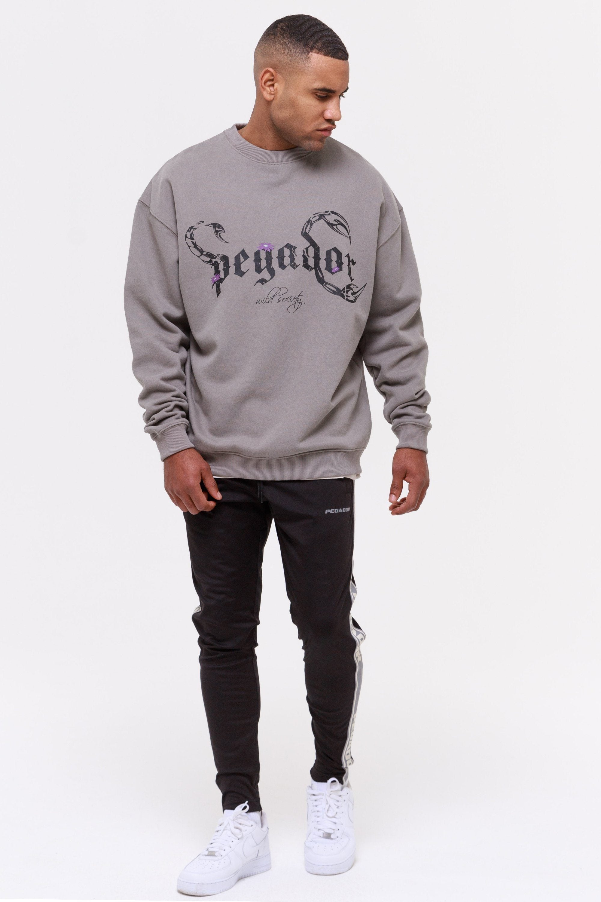 Deadwood Oversized Sweater Washed Frost Grey SWEATER Wild Society