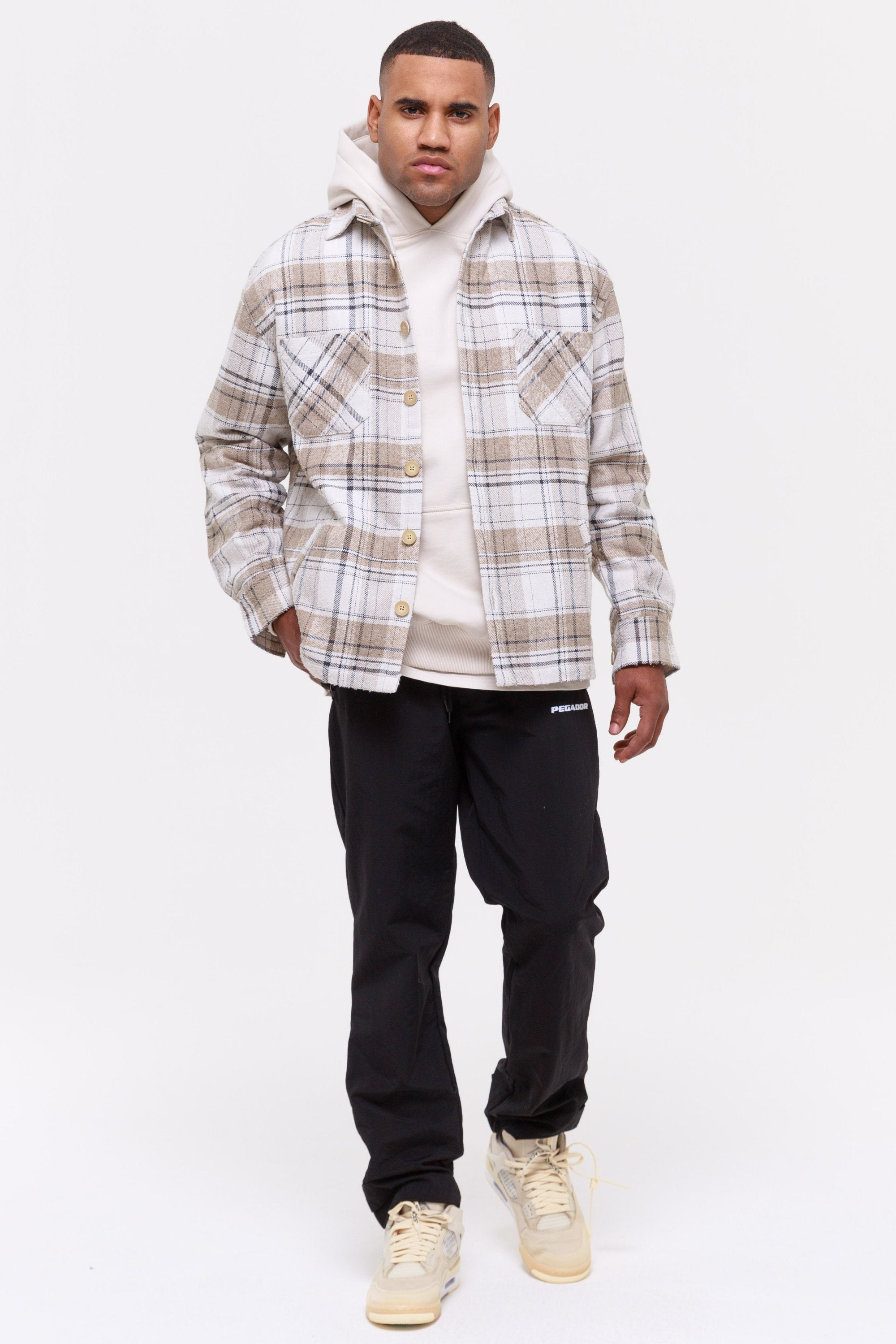 Flato Heavy Wool Flannel Shirt Creme SHIRT Wild Society