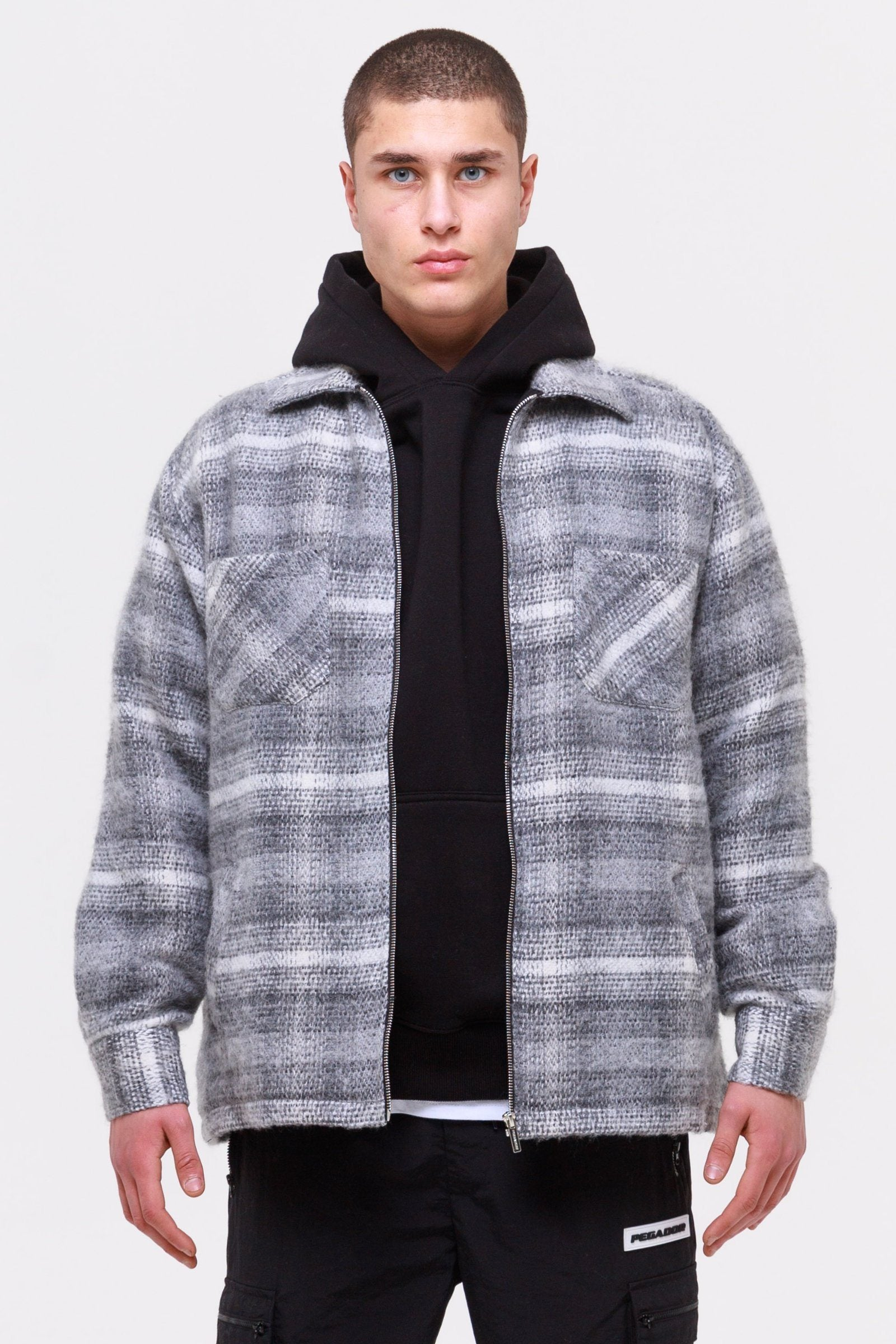 Vogar Hairy Flannel Jacket Dust Grey JACKET Wild Society