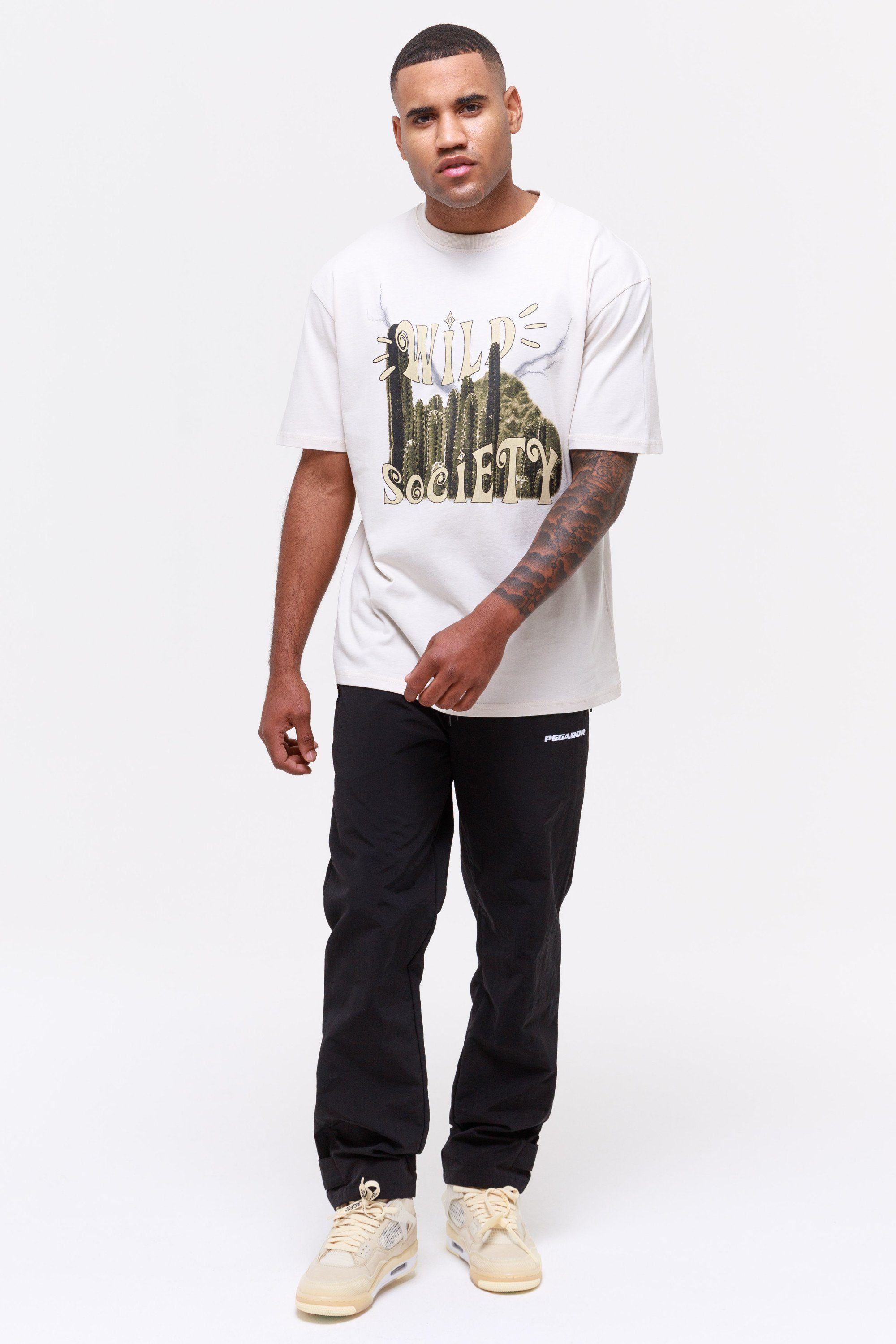 Cody Oversized Tee Coconut Milk T-SHIRT Wild Society
