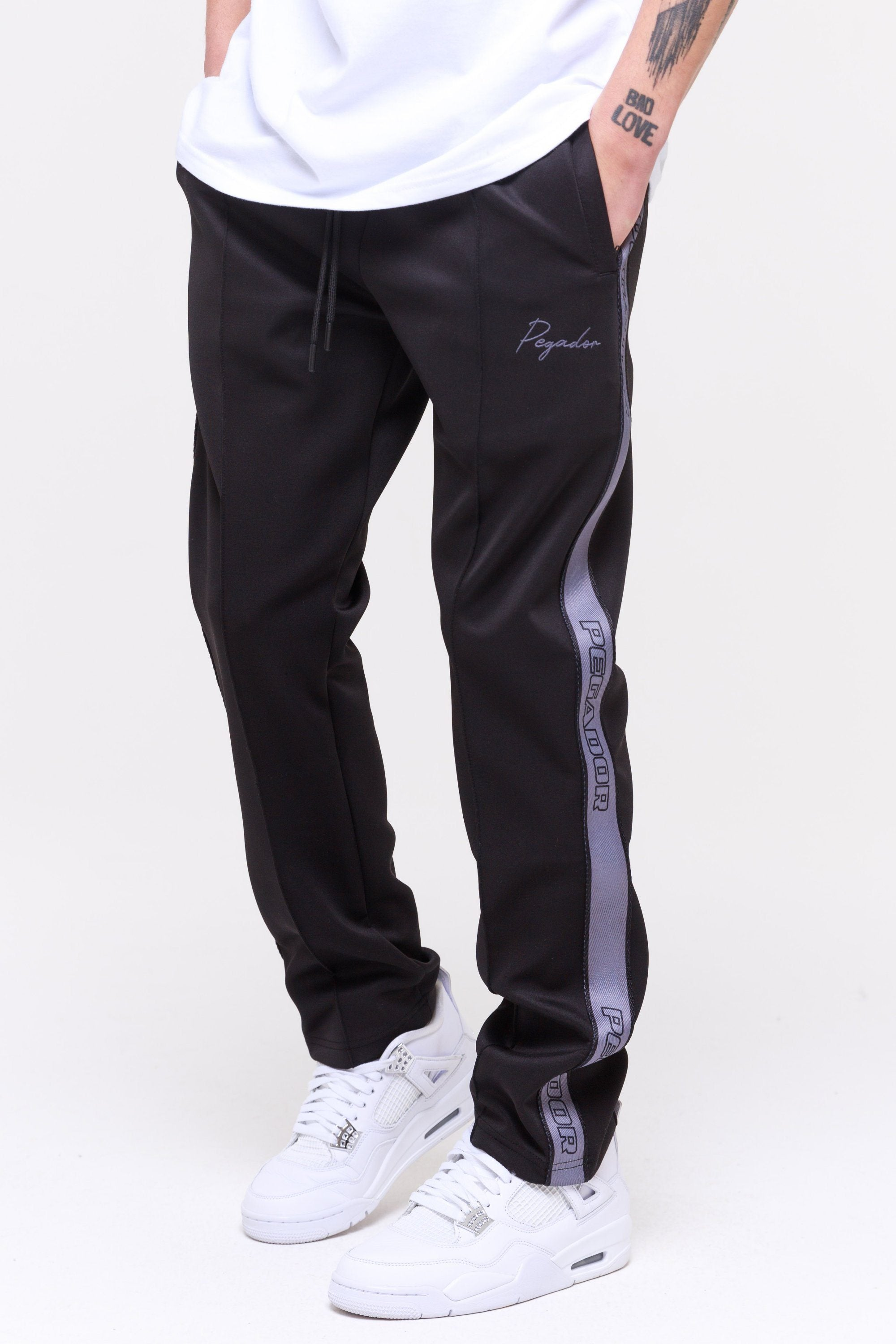 Wide Track Pants Black Storm Pants Wild Society