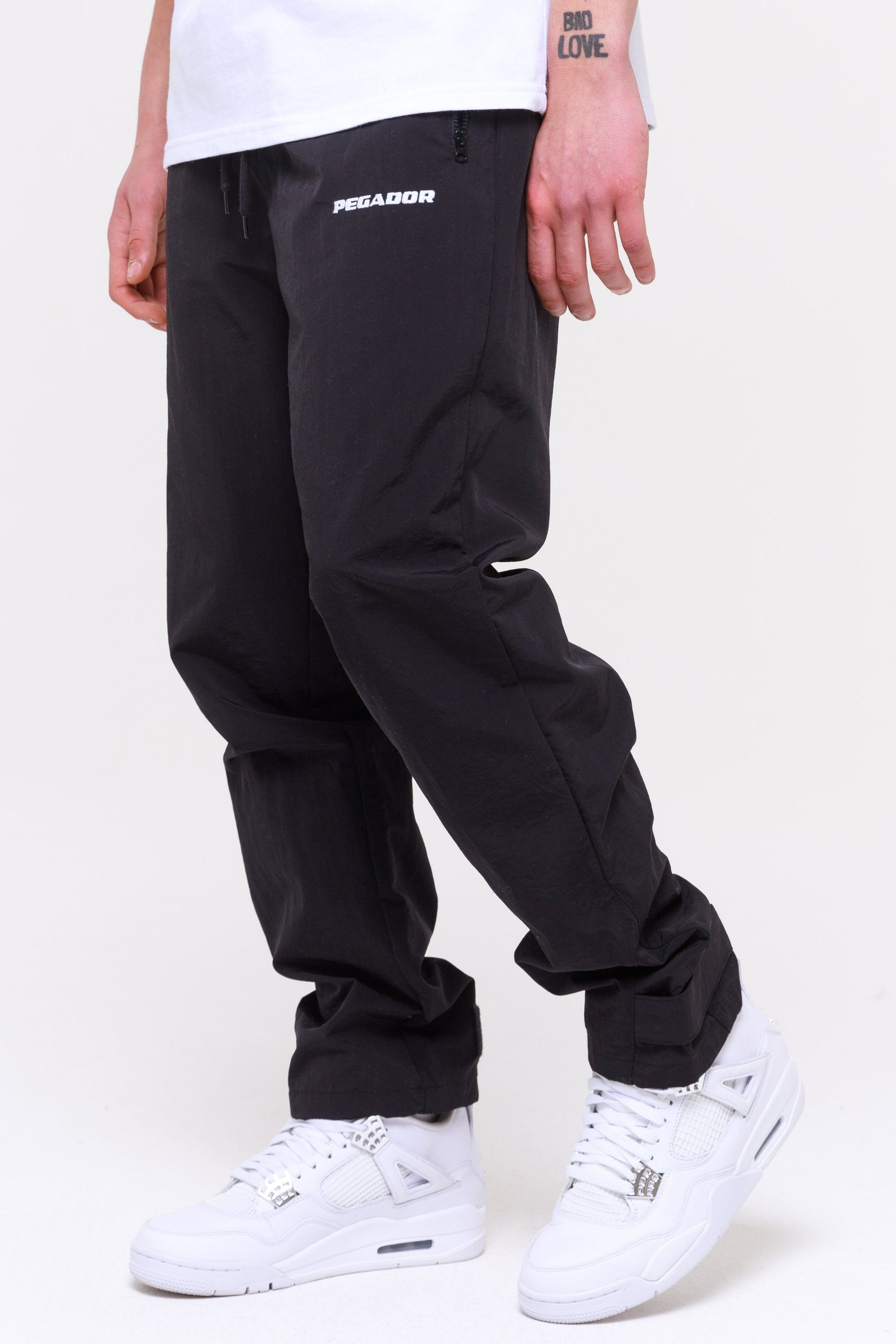 Shadow Wide Track Pants Black Pants Wild Society