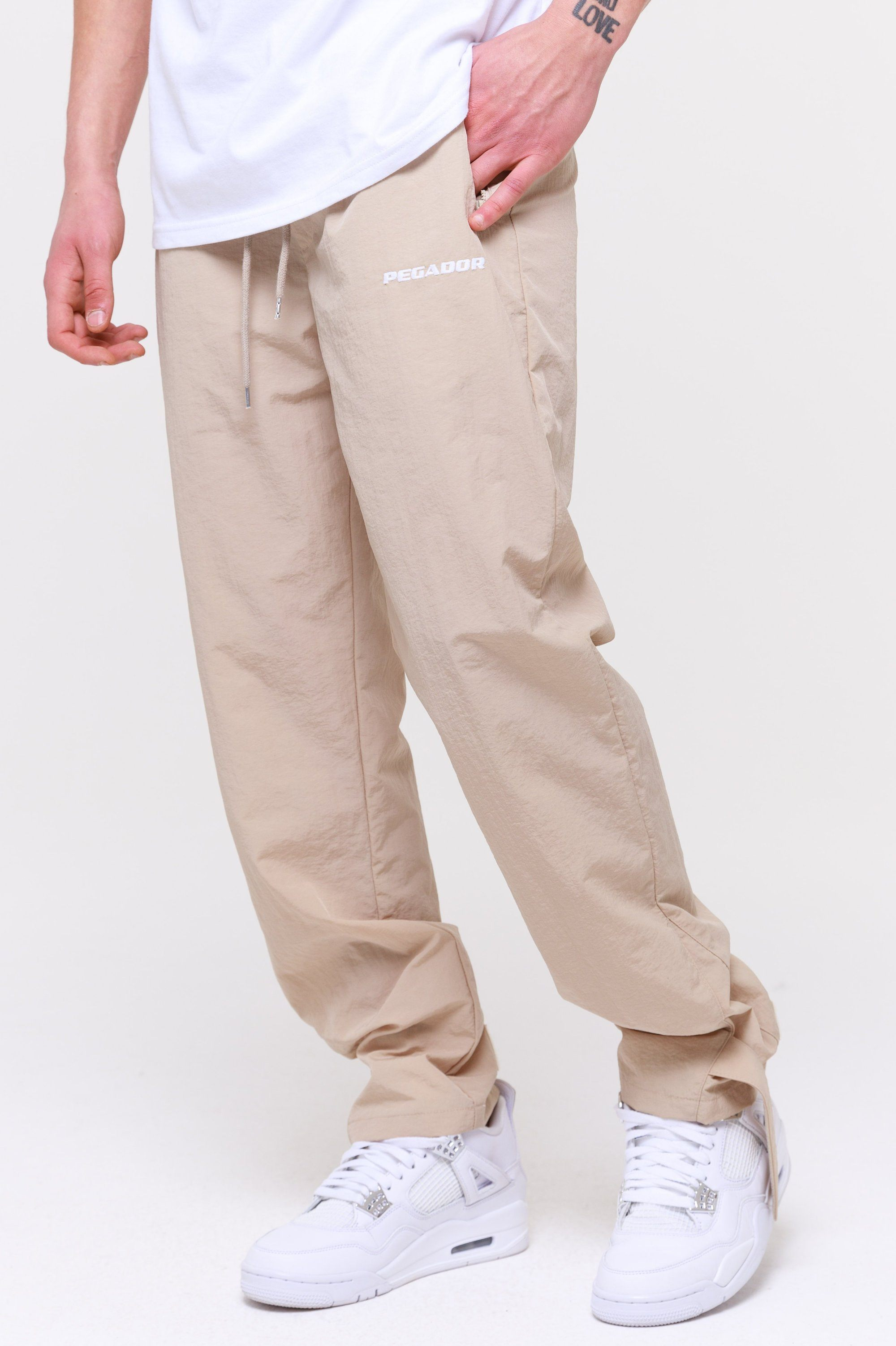 Shadow Wide Track Pants Coconut Pants Wild Society