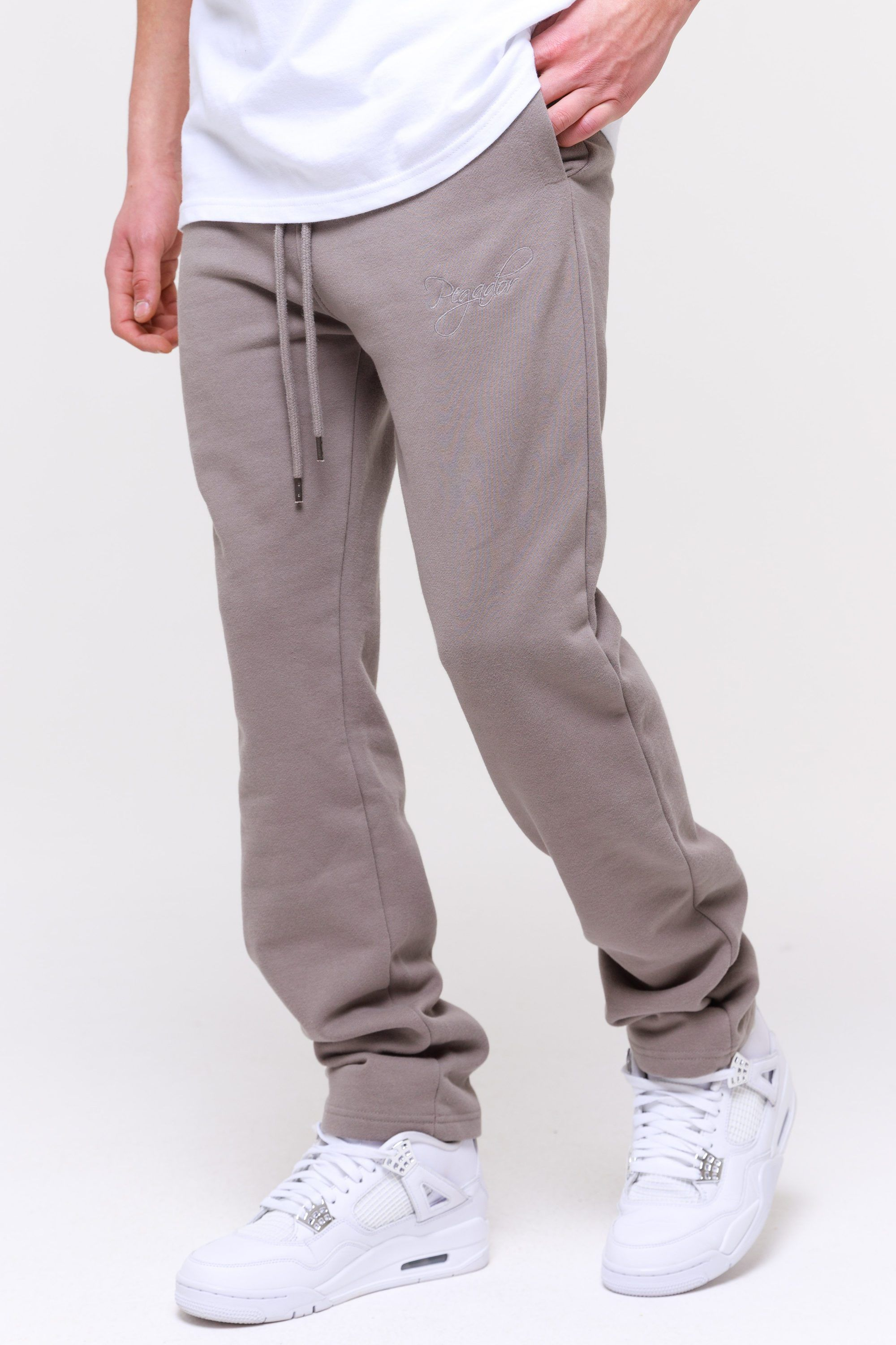Yuma Wide Sweatpants Washed Frost Grey Pants Wild Society