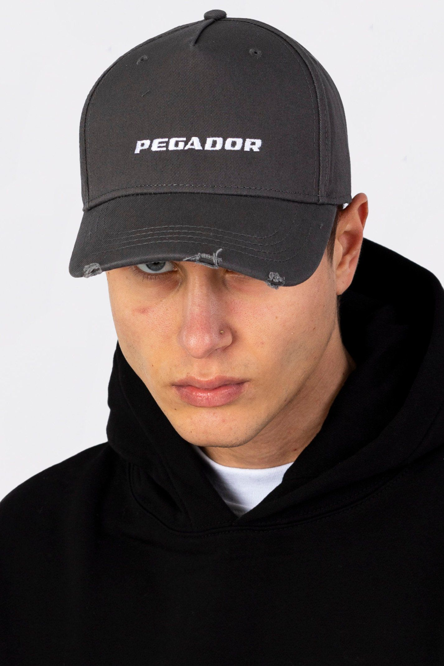 Reo Destroyed Cap Dark Grey Headwear Wild Society