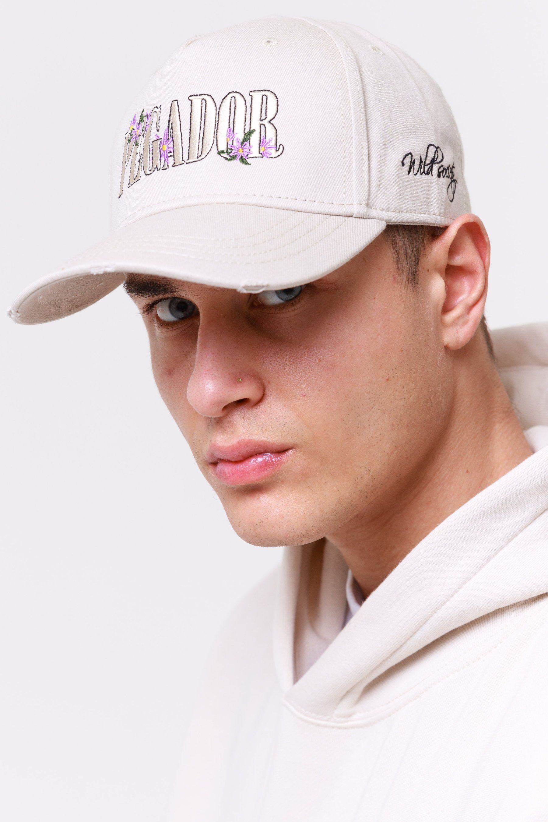 Embroidery Destroyed Cap Sand Headwear Wild Society