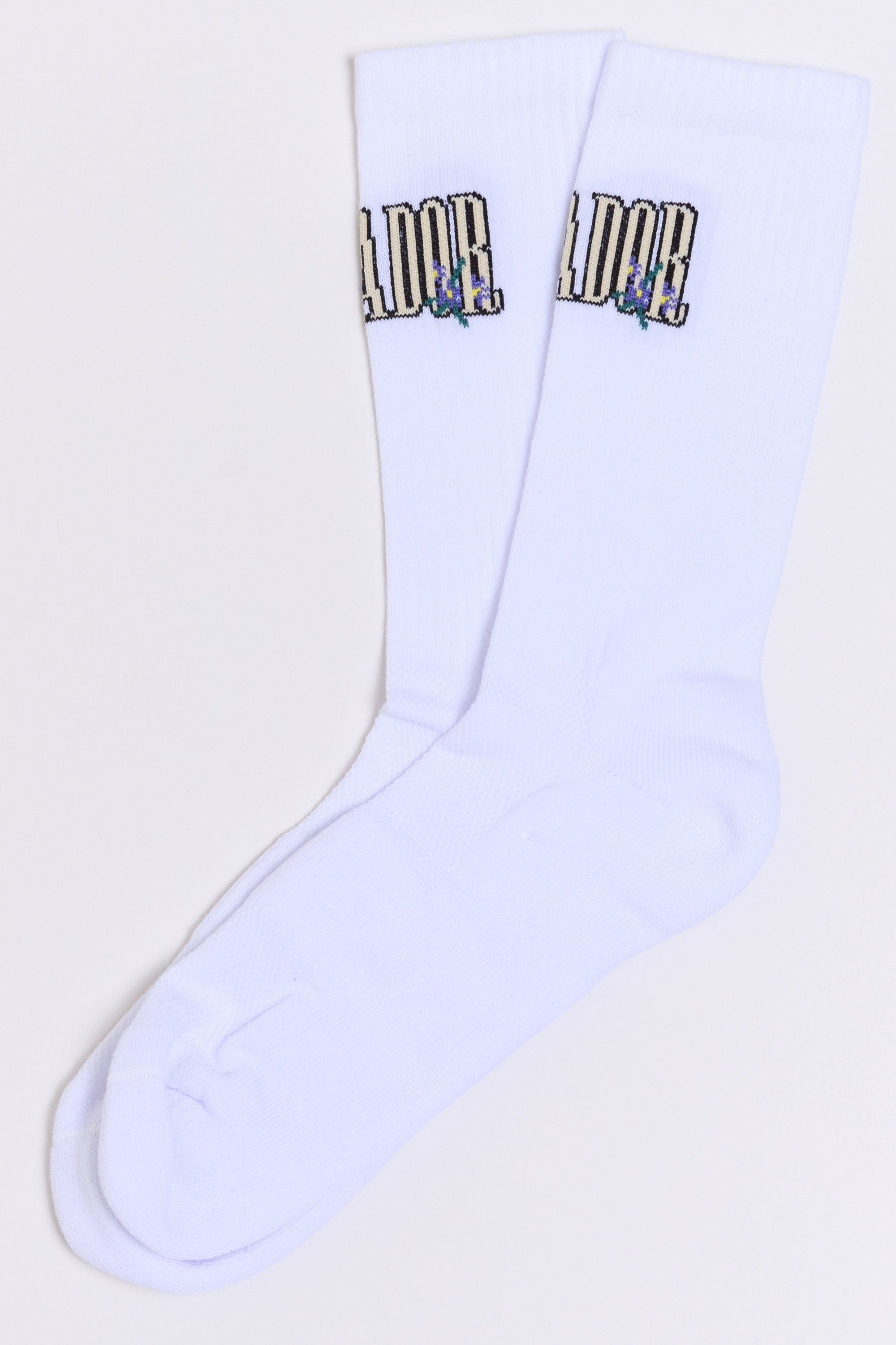 Wild Flower Socks White ACCESSORIES Wild Society