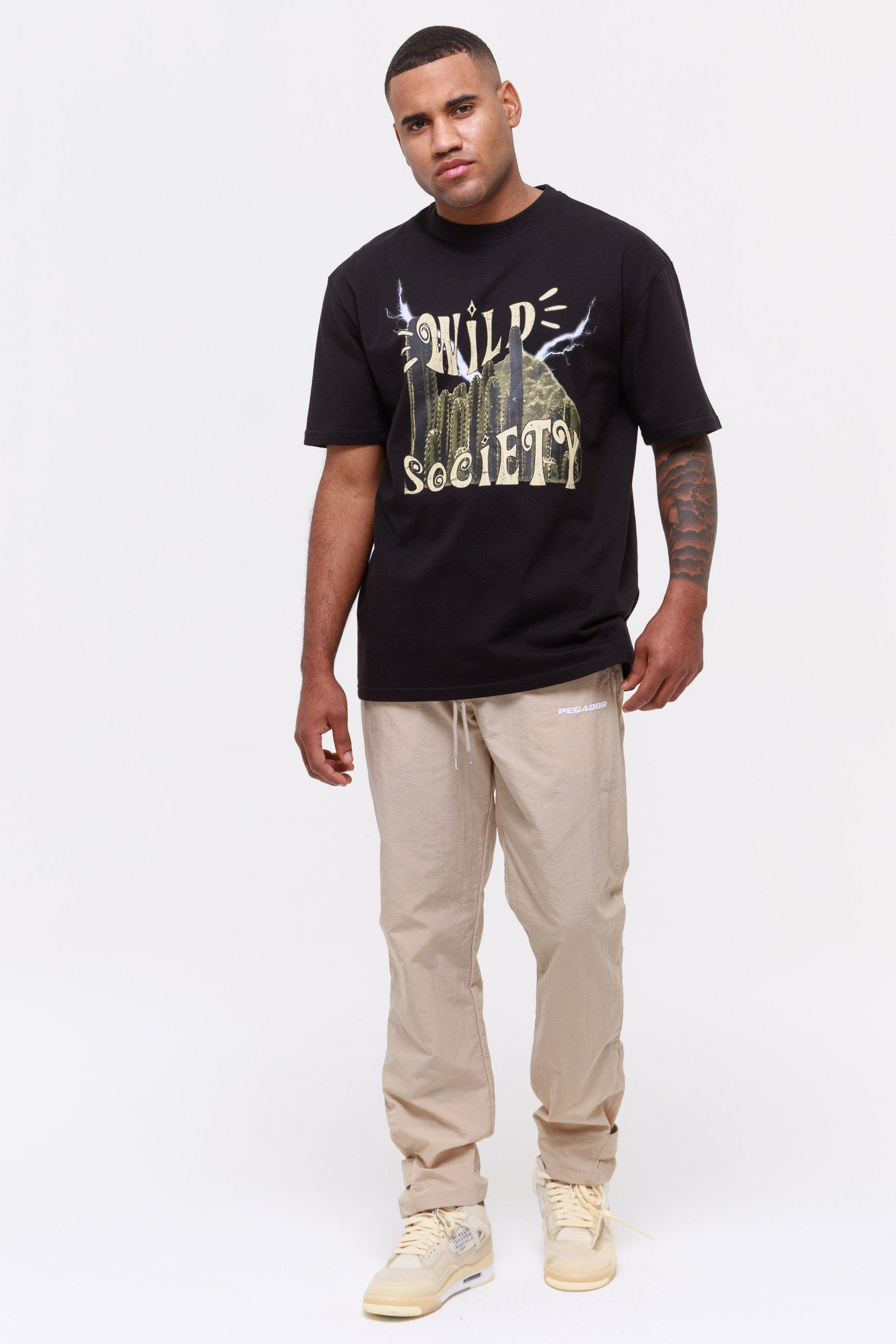 Cody Oversized Tee Black T-SHIRT Wild Society