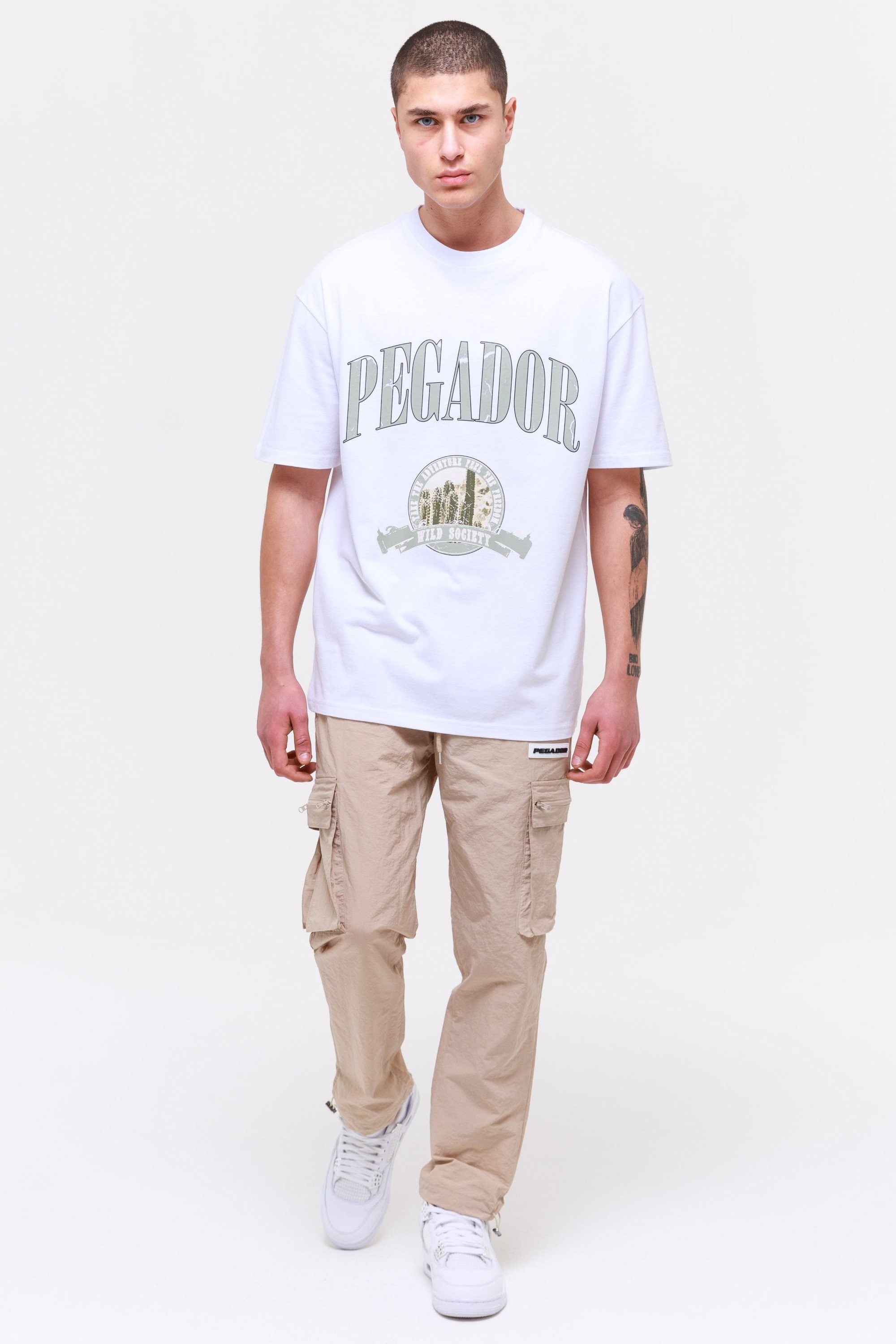 Utah Oversized Tee White T-SHIRT Wild Society