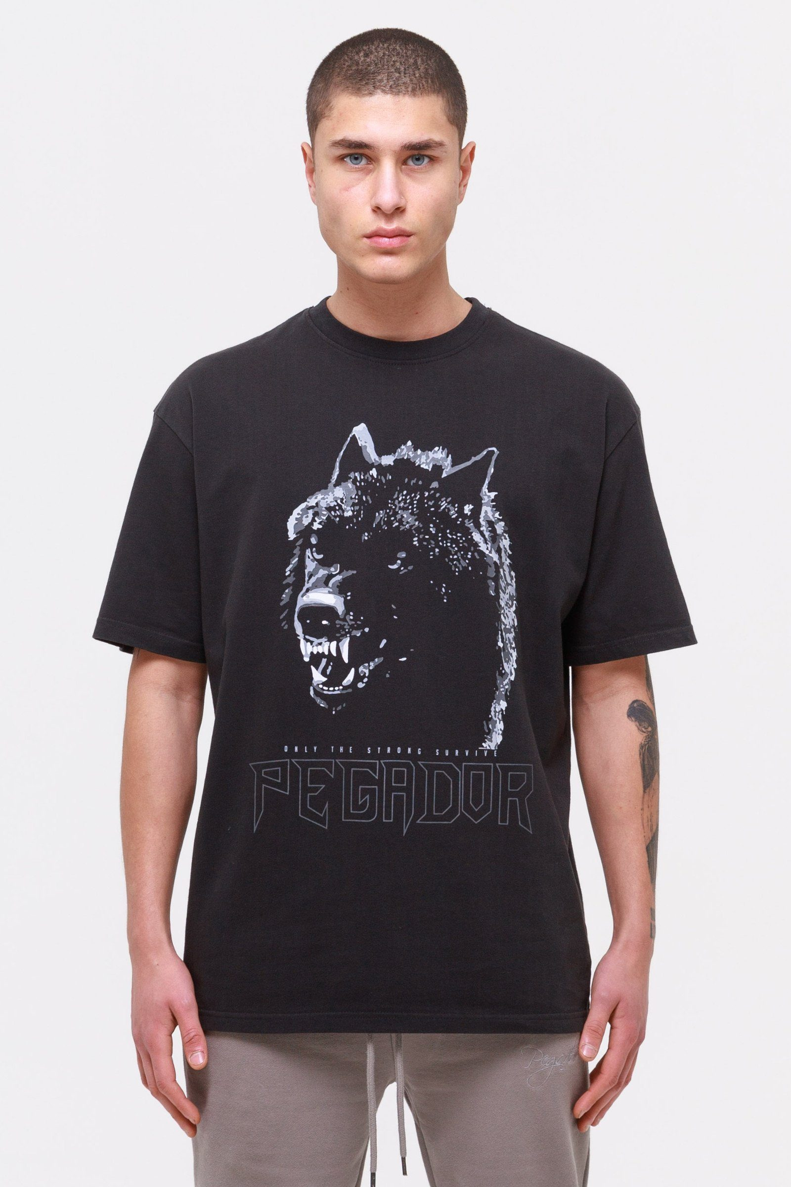 Oregon Oversized Tee Washed Black T-SHIRT Wild Society