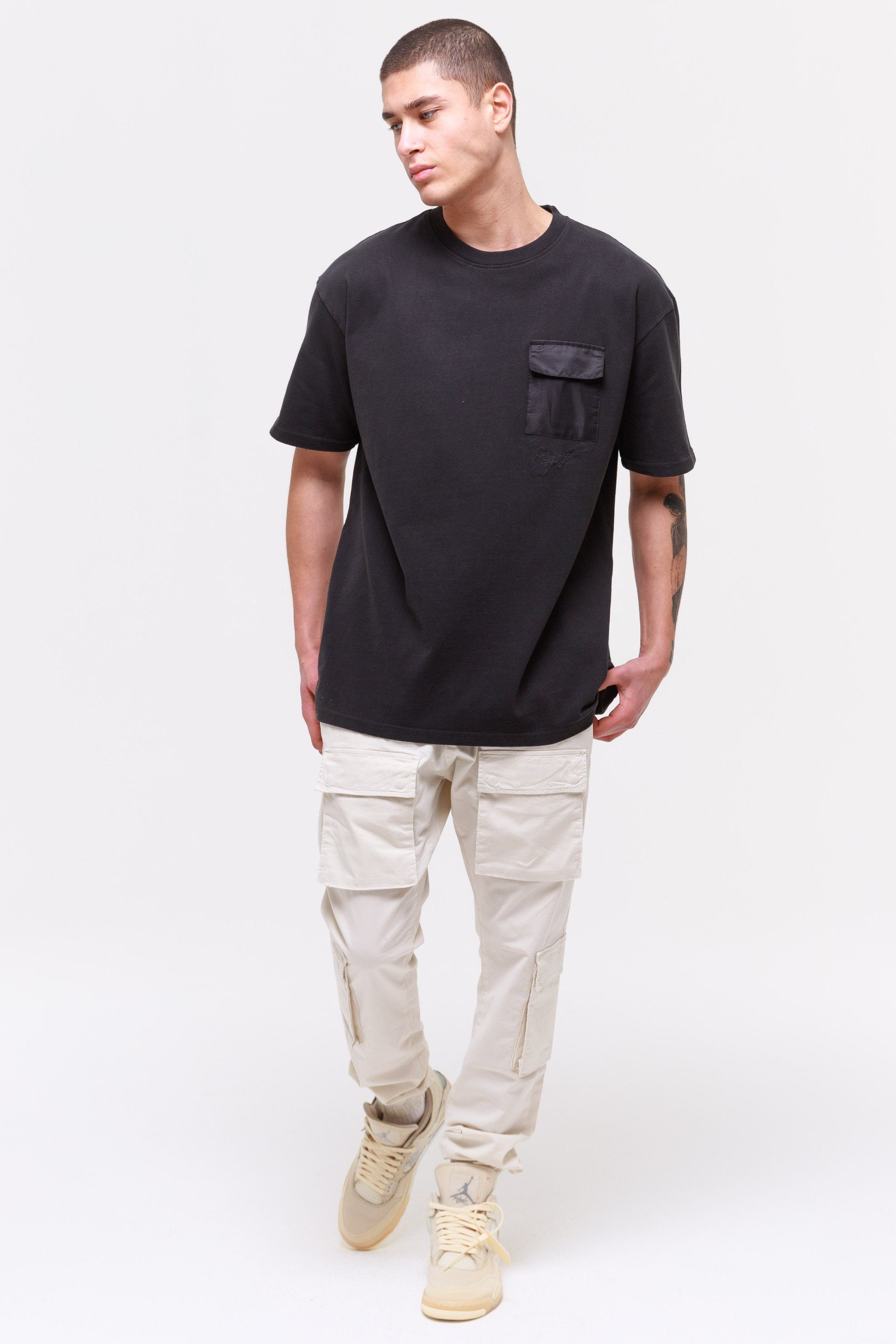 Ghosttown Utility Tee Washed Black T-SHIRT Wild Society