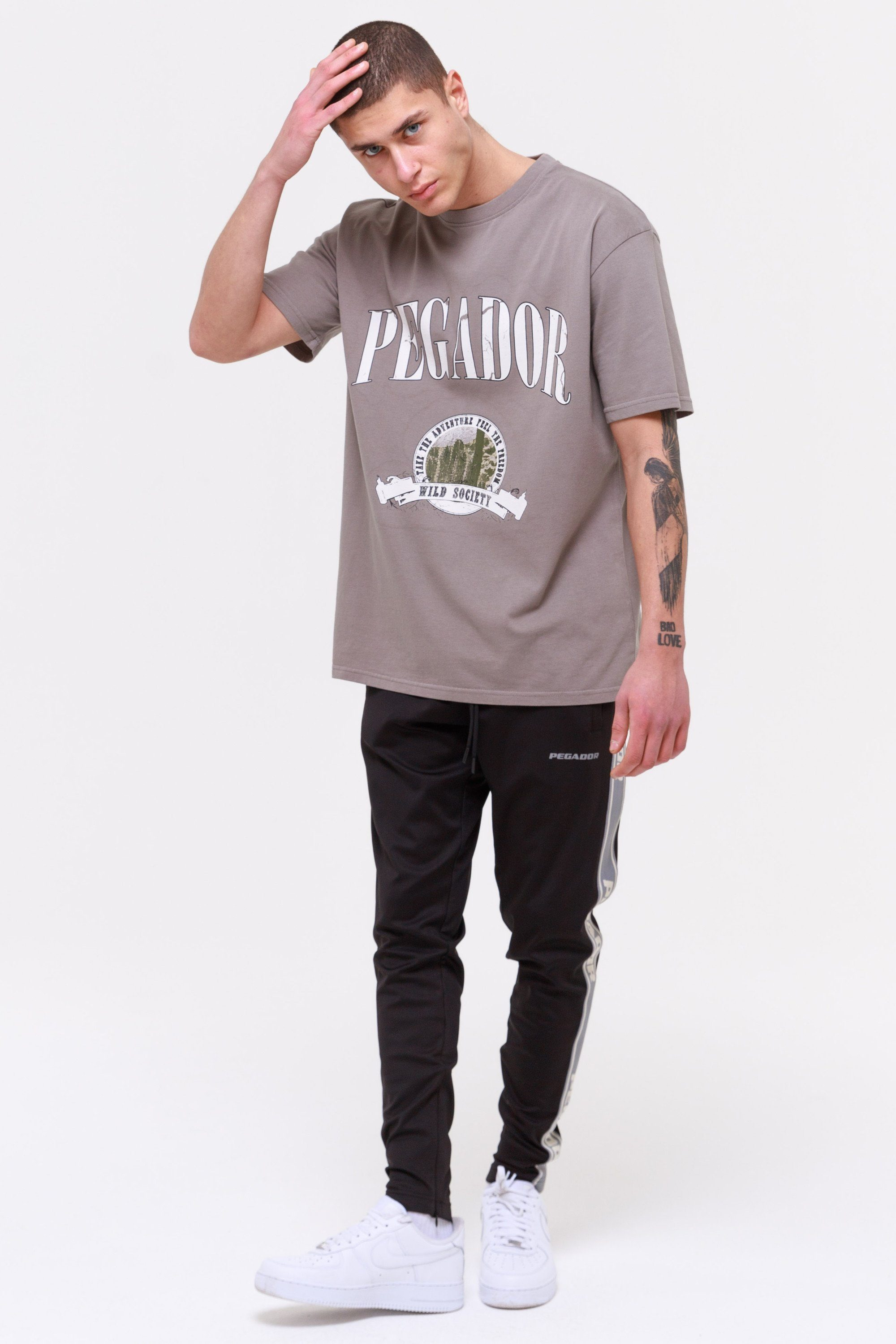 Utah Oversized Tee Washed Frost Grey T-SHIRT Wild Society