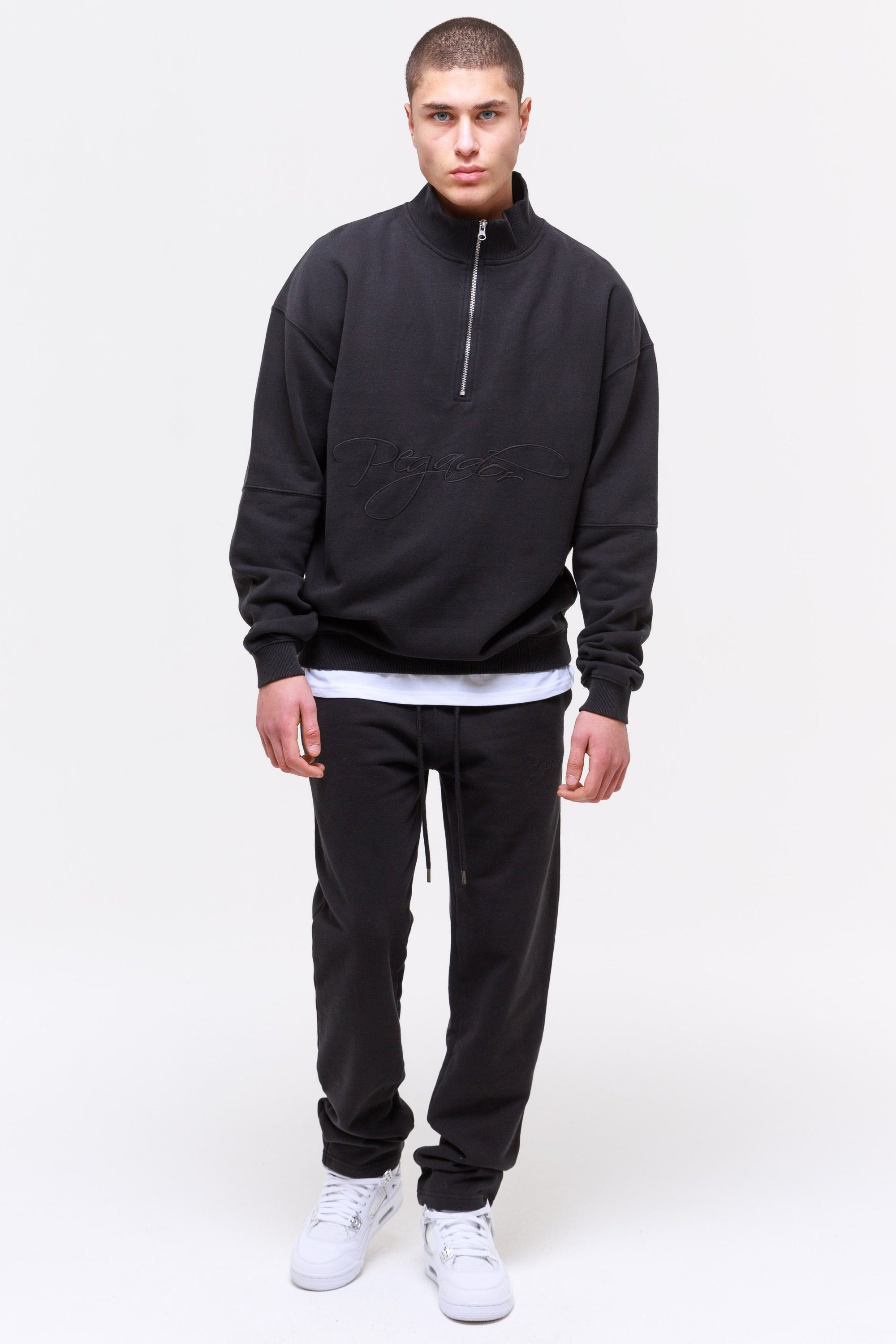 Yuma Wide Sweatpants Washed Black Pants Wild Society