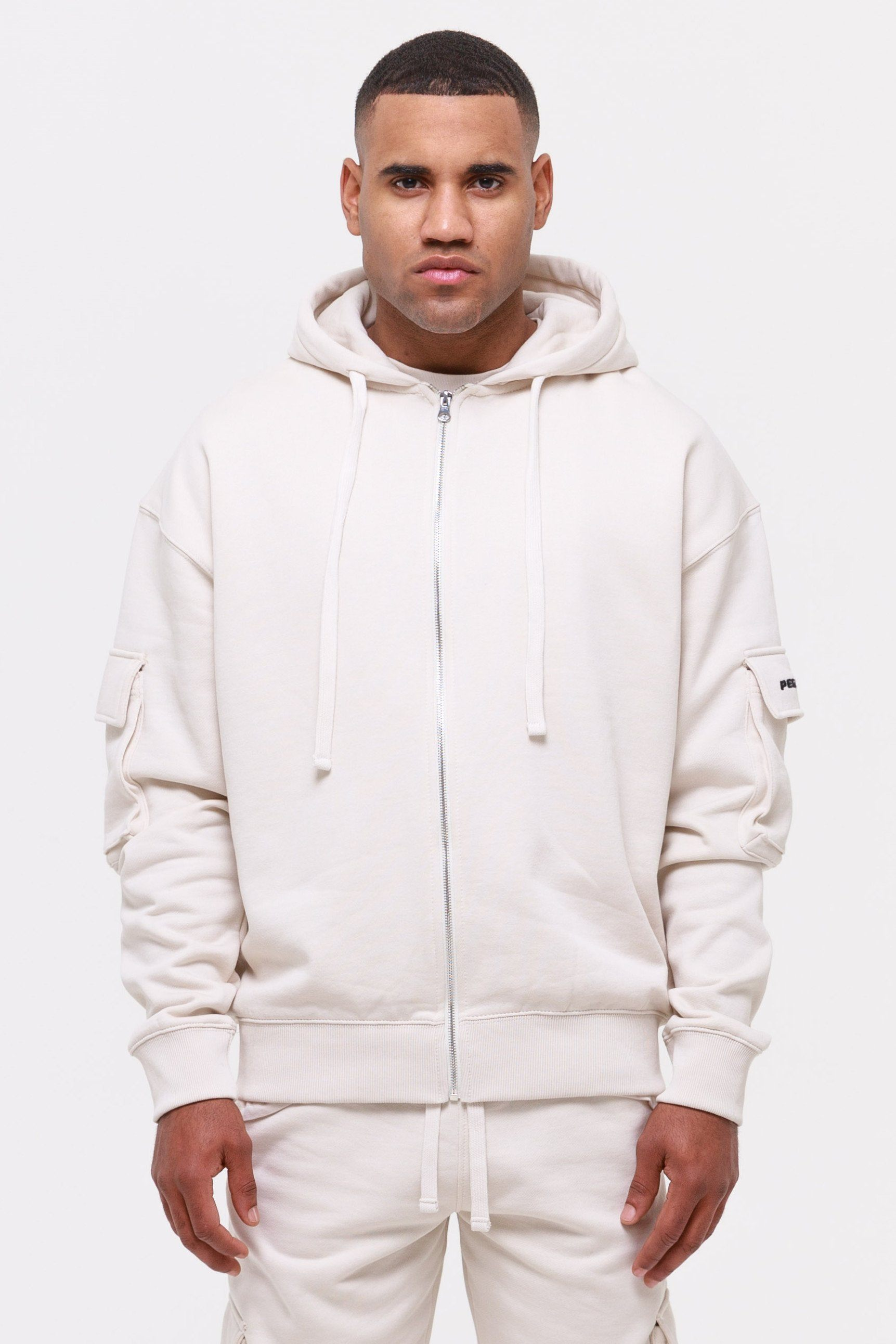 Colorado Utility Oversized Sweat Jacket Coconut Milk Hoodies Wild Society