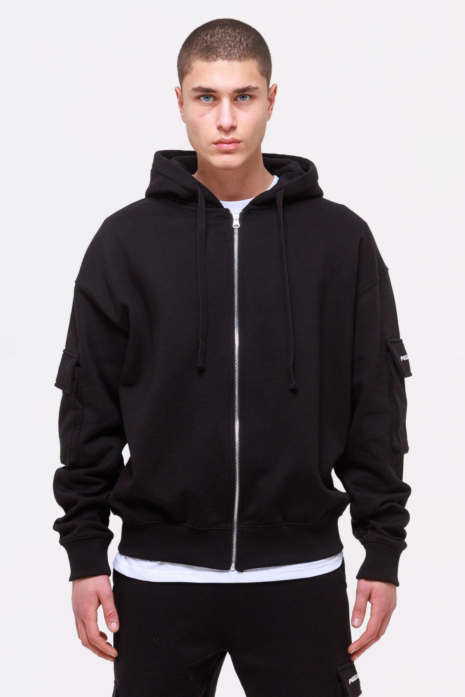 Colorado Utility Oversized Sweat Jacket Black JACKET Wild Society