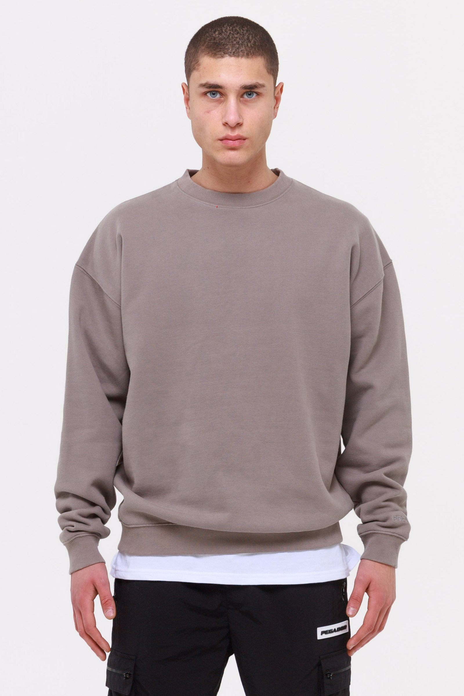 Heavy Oversized Sweater Washed Frost Grey SWEATER Wild Society