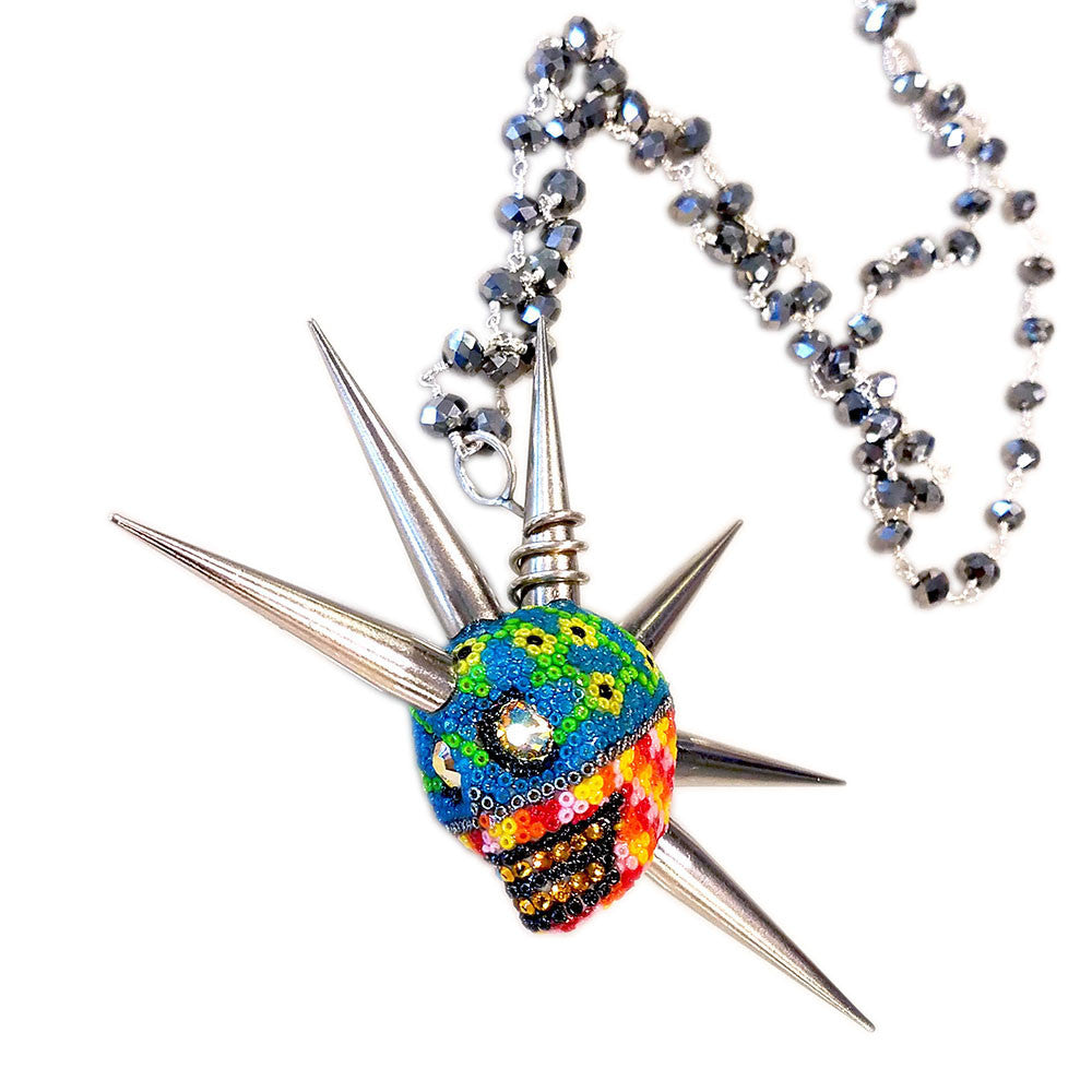 Spike Tall Mohawk Skull