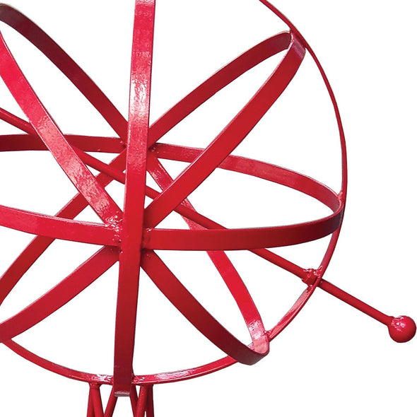"Metal Garden Sphere w/Hairpin Base - Red Finish 39"" Tall - Perfect For Climbing Plants (#1323-R) - Nomadic Grill + Home - 3"