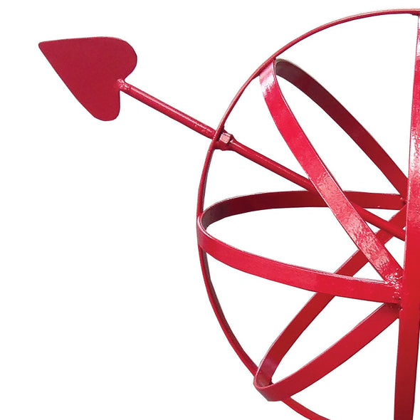 "Metal Garden Sphere w/Hairpin Base - Red Finish 39"" Tall - Perfect For Climbing Plants (#1323-R) - Nomadic Grill + Home - 2"