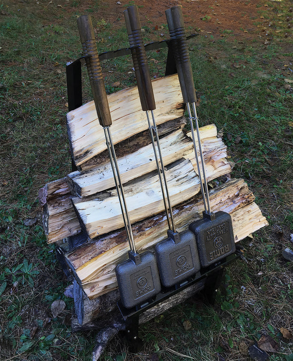 Firewood + Pie Iron Rack For The Cabin or Backyard Firepit - Nomadic Grill + Home - 6