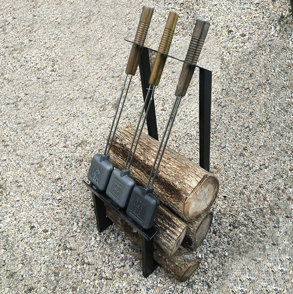 Firewood + Pie Iron Rack For The Cabin or Backyard Firepit - Nomadic Grill + Home - 5