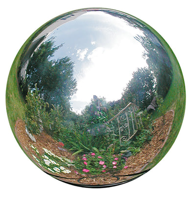 Stainless Steel Gazing Globes - reflective modern decor for indoor / outdoor use - Nomadic Grill + Home