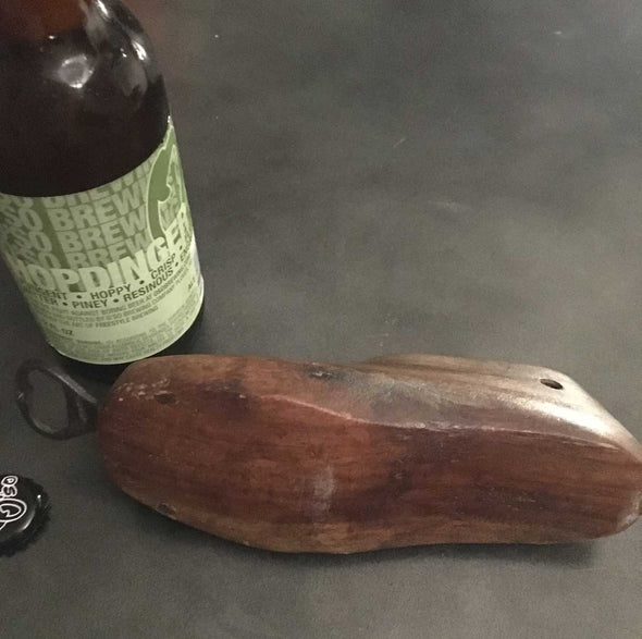 Bottle Opener Upcycled from Antique Wood Shoe Mold (bn07) - Nomadic Grill + Home - 4