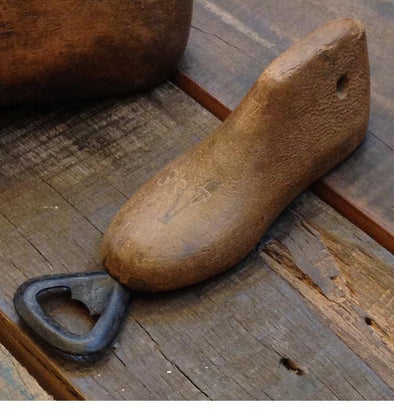 Bottle Opener Upcycled from Antique Wood Shoe Mold (bn07) - Nomadic Grill + Home - 1