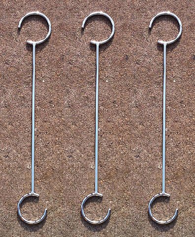 "Circa 18"" Modern Plant Hook - set of 3 (#FG9162-3) - Nomadic Grill + Home - 1"