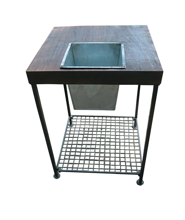 Forma Square Planter Side Table (#FG9404) - Nomadic Grill + Home - 2