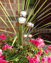 Stainless Steel Garden Lollipops - modern balls on stakes decor for indoor / outdoor use - Nomadic Grill + Home - 2