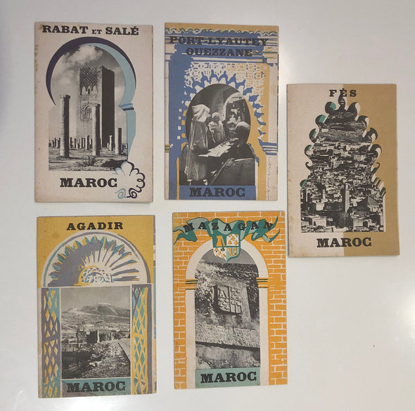 Lot of 5 Moroccan Tourism Booklets From 1952, Beautiful Quality Printed in Paris, Global Travel Ephemera SOLD OUT