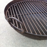 Steel Firebowl / Fire Pit From India W/ Grill Grate and Stand - Medium, Riveted - Nomadic Grill + Home - 3
