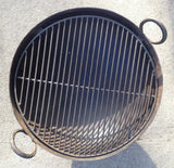 Steel Firebowl / Fire Pit From India W/ Grill Grate and Stand - Medium, Stamped - Nomadic Grill + Home - 4