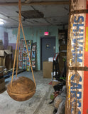 Heavy Wooden Pully - Architectural Salvage From India, Upcycled With Rope For Hanging From Tree Or Beam, Indoor or Garden