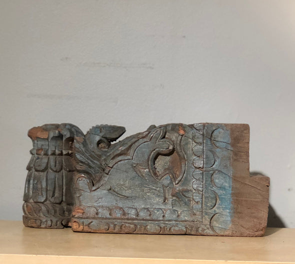 Vintage Hand Carved Wood Ornamental Architectural Salvage Piece From India, Home Decor, Decorative Object, One Of A Kind